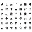 Social network icons - Imagen vectorial