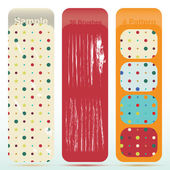 Vintage polka dot texture set and old look sratch — Stock Vector