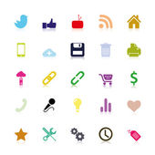 Colored social Icons — Stockvektor