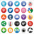 Social icons set — Stock Vector #24720399