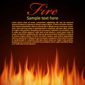 Fire background for your Design — Stock Vector