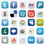 Social media Icons Square icon — Stock Vector #24903743