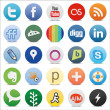 Social media buttons - Stock Vector