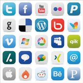 Social media Icons Square icon — Stock Vector