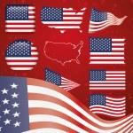 United States of America symbol set — Stock Vector