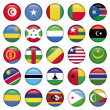 Africa Flags Round Buttons — Stock Vector #25523303