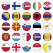 Stock Vector: EuropeButtons Round Flags