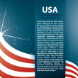 Vector background USA flag and Text - Stock Vector