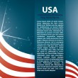 Vector background USA flag and Text — Stock Vector