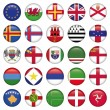 Set of European Round Flag Icons — Stock Vector #25662247