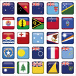 Set of Australian, Oceania Squared Flag Icons — Stock Vector