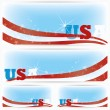 Background banners of USA flags, brochure — Stock Vector