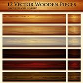 Wooden texture seamless background illustration — Stock Vector