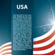 USA flag stars and Text Abstract Background — Stock Vector