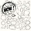 Collection of comic style speech bubbles. Vector. — Stock Vector