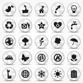 Aluminium Ecology icons set. Environment Symbols — Stock Vector