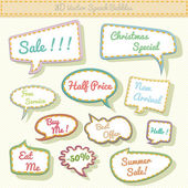Speech bubbles 3d with sale text — Stock Vector