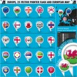 European Icons Round Indicator Flags and Map Set3. — Vector de stock