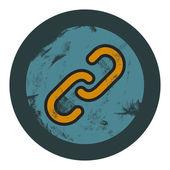 Vector grunge hiperlink icon, graphic design element — Stock Photo