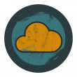 Vector grunge cloud icon - graphic design element — Stockvectorbeeld