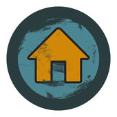 Vector grunge house icon, graphic design element — Stock Vector