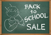Back To School SALE - advertisement illustration — Stock Photo