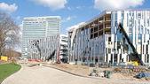 Düsseldorf construction site — Stock Photo