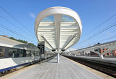 Guillemins train station — Stock Photo