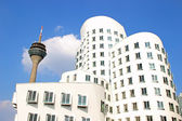 Buildings and Rhine Tower in Düsseldorf — Stock Photo