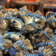 Crabs at the fish market — Stock Photo
