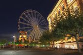 Giant wheel in Düsseldorf — Stock Photo