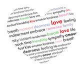Hjärta med vacker text — Stockvektor