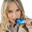 Woman with credit card — Stock Photo #19676021