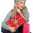 Woman with presents - Stock Photo