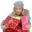 Woman with presents — Stock Photo #19677601