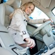 Woman driver in car — Stockfoto #19677855