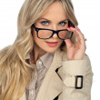Woman with glasses — Stockfoto