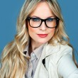 Attractive woman with glasses — Stok fotoğraf