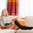 Attractive woman with book — Stock Photo
