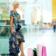 Stock Photo: Womin shopping mall