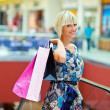 Foto Stock: Woman in shopping mall