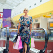 Woman in shopping mall — Foto Stock