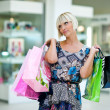 Stock Photo: Woman in shopping mall