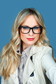Attractive woman with glasses — Stock Photo