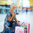 Foto Stock: Woman shopping