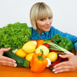 Woman with vegetables — Foto de Stock