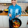 Woman cook vegetable — Stock Photo #19681005