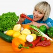 Woman with vegetables — Foto Stock