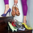 Woman trying shoes — Stock Photo