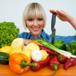 Woman with vegetables — Stock Photo #19681223